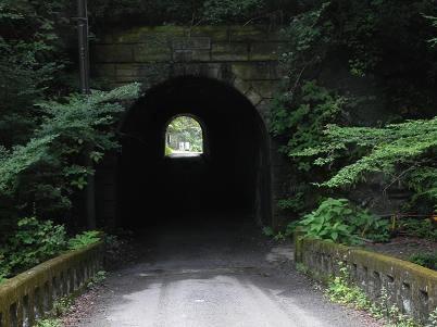 海沢園地の入口トンネル