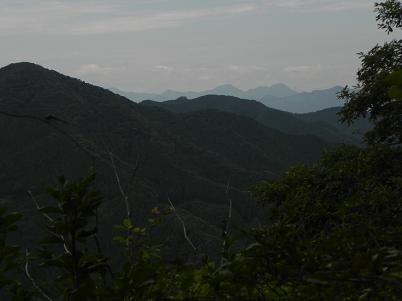 伊豆が岳より城峯山方面の眺望