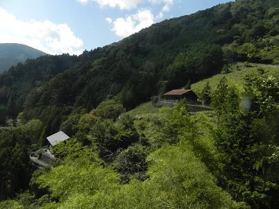 峰谷方面の眺望