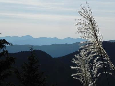 山頂から見た丹沢方面