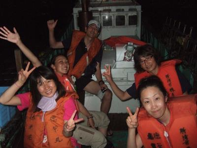 08-12 船で花火見物へ