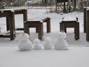 雪だるま親子1