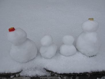雪だるま親子2