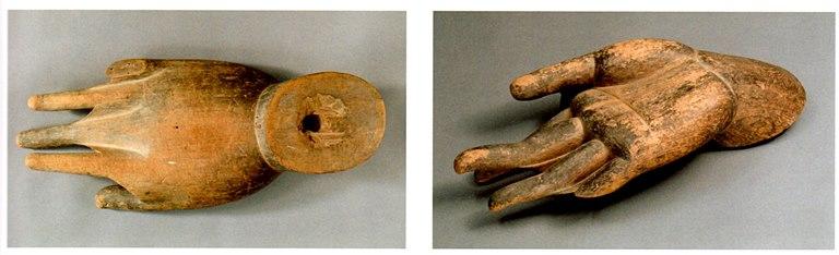 釈迦如来像の奈良時代制作と思われる手先