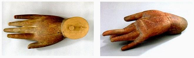 道成寺に保管されていた釈迦如来像の鎌倉時代制作と考えられる手先