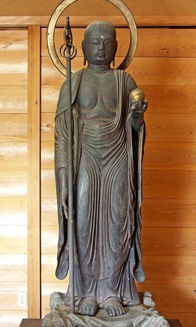 下永区・八幡神社の地蔵菩薩立像