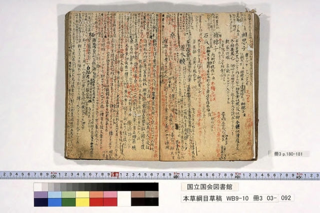 本草綱目草稿冊3p180-181