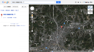 古いGoogleマップでの表示