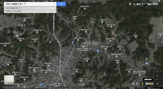 新しいGoogleマップでの表示(航空写真)