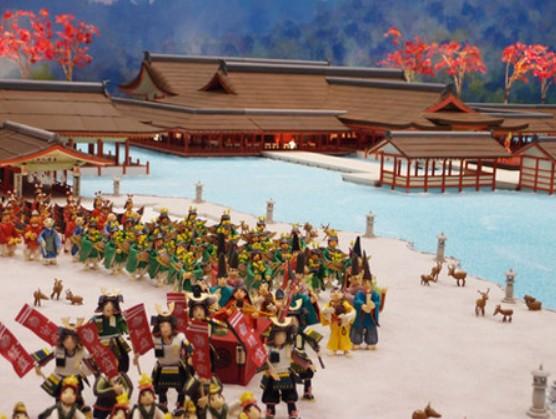 和洋菓子で作った厳島神社
