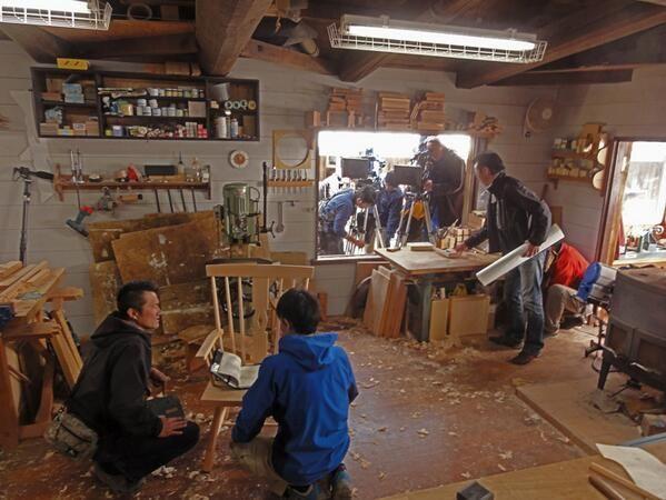 20130508001中川聡史が働く家具工房