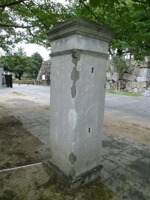 小倉連隊区司令部門柱 (2)