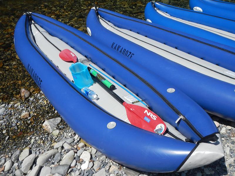 カヌー型ゴムボート、ダッキー