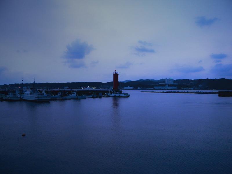 大島の夕景