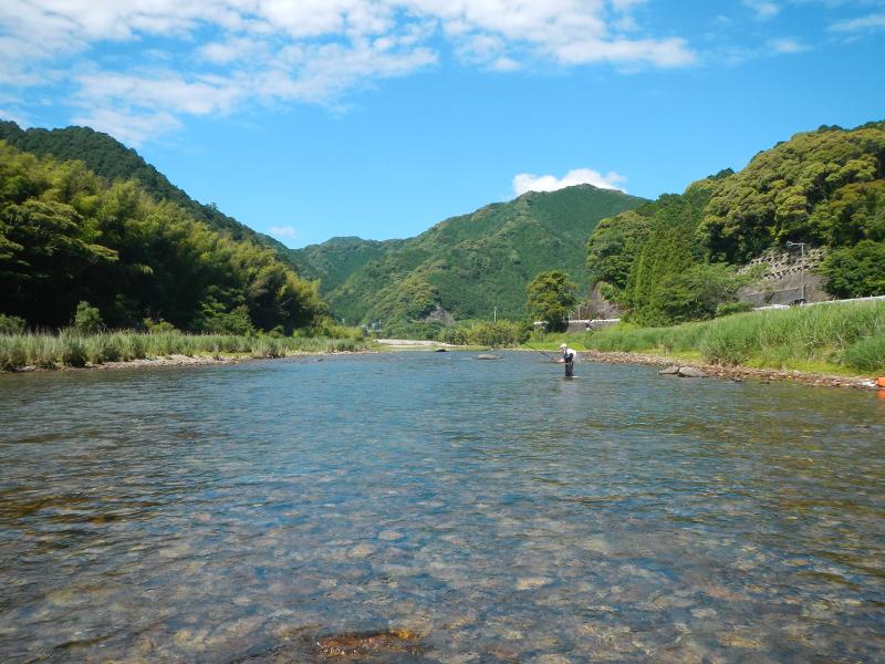 2013年6月14日の古座川の様子