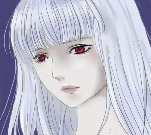 白い髪の娘