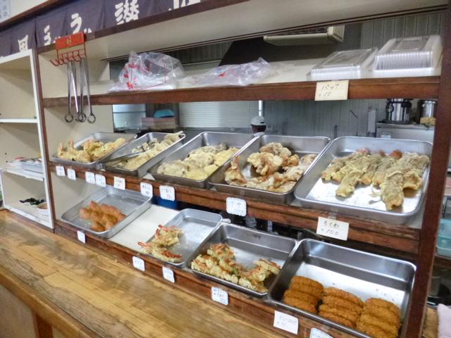 オプションの天ぷらも豊富にそろってます