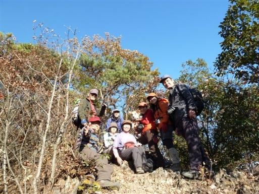 富士見岩で全員集合