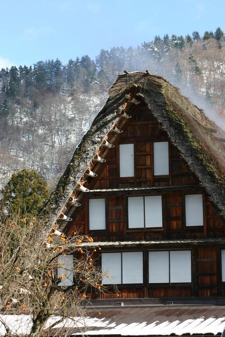 白い雪で美しく表情を変える~世界遺産 白川郷~大自然と田舎らしい風景 ⑦