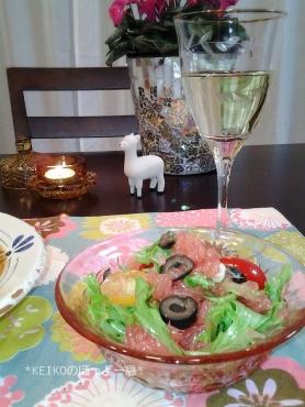 ピンクグレープフルーツのサラダ4