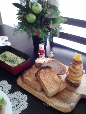 クリスマスツリーのパン