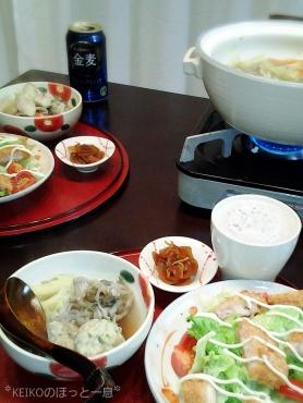 ふわふわ鶏団子鍋3