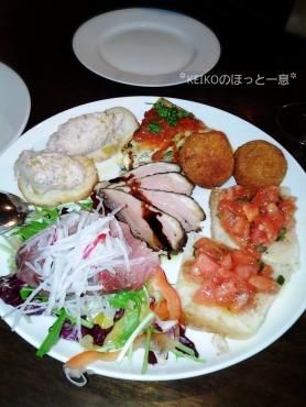 メンサ ヴェッキアの前菜の6種盛り合わせ