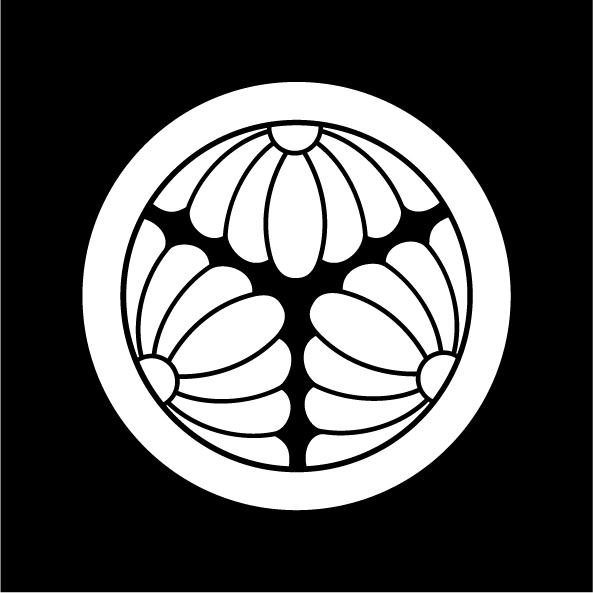 丸に三つ割り菊-白紋JPEG