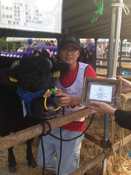 畜産共進会競り市「但馬牛を一頭落札」しました。