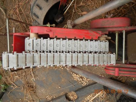 麦畑の耕起作業 (3)