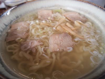 あっさり透明なスープ。
