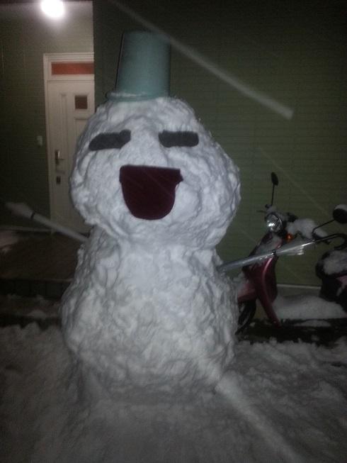 大人の雪だるま1