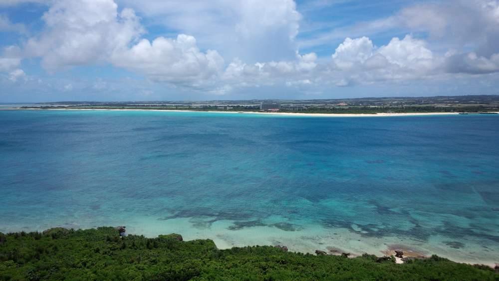展望台からの前浜ビーチ