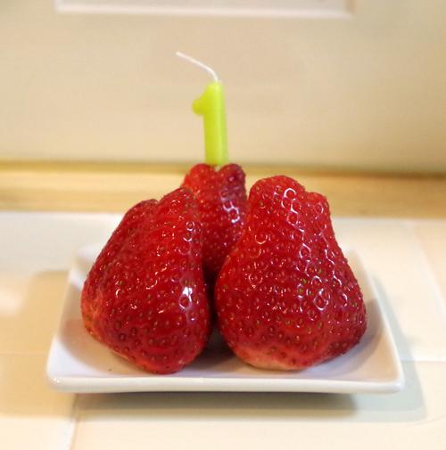 誕生祝いいちご