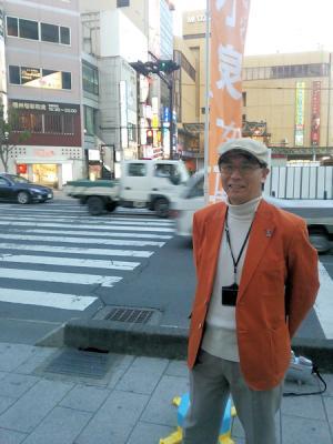 長野駅前で辻立ち