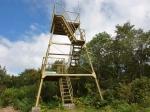 展望台に登ると360度の絶景 山頂は周囲の木が遮る