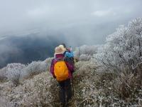 16時55分 稜線歩き中止 下山