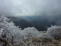 山頂 雪景色
