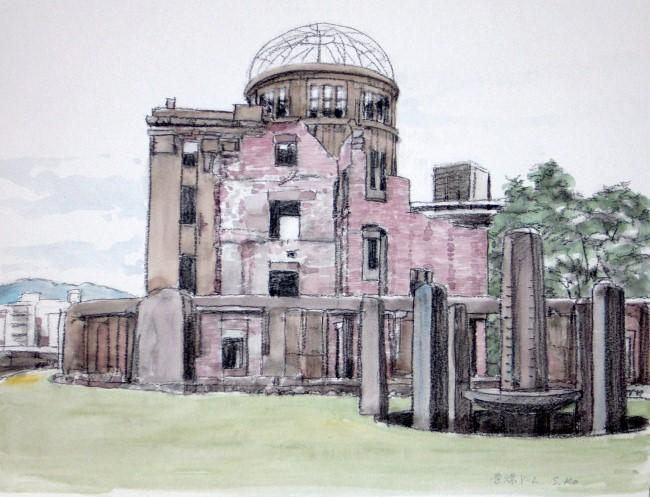 原爆ドーム 南より (650x497)