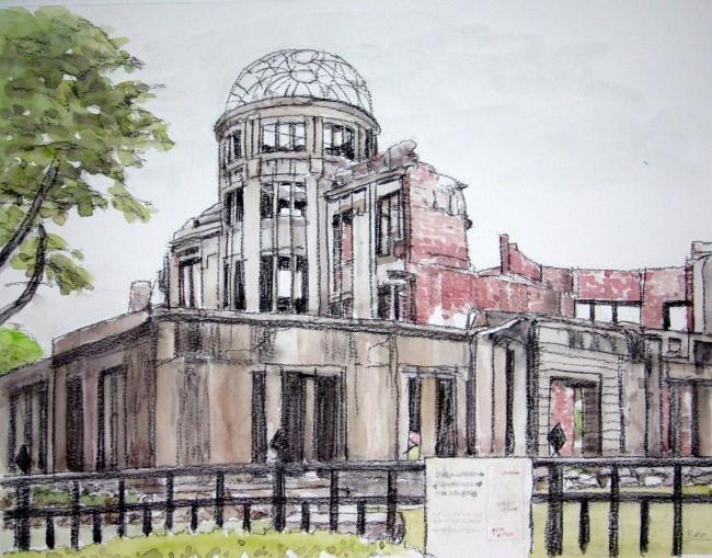 原爆ドーム 東より (650x509)