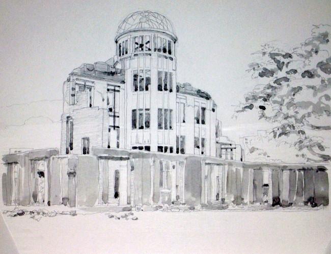 原爆ドーム3グリサイユ (650x498)