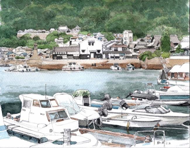 鞆の浦の波止場2 (650x506)