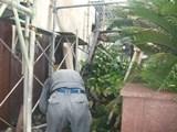 解体工事 鉄骨階段撤去状況2
