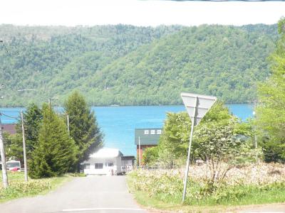 新緑写す湖