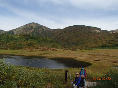 130920夜~23myoko-hiuchi7天狗の庭と火打山