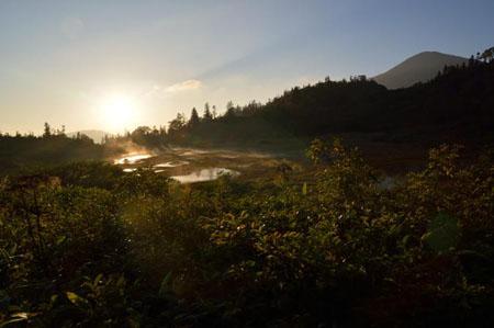 130920夜~23myoko-hiuchi5-夕暮れの高谷池