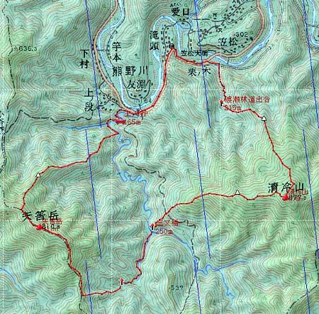 20130914矢筈岳地図1