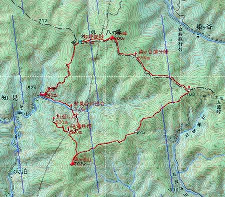 20131027八ヶ峰地図