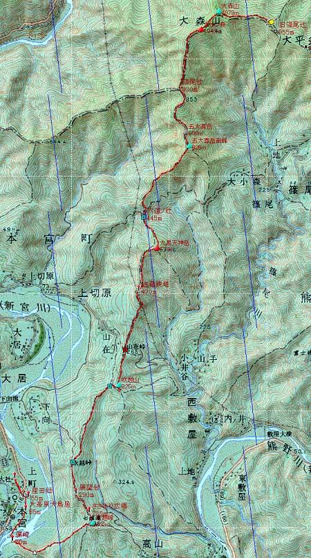 20131012南奥駈地図3日目