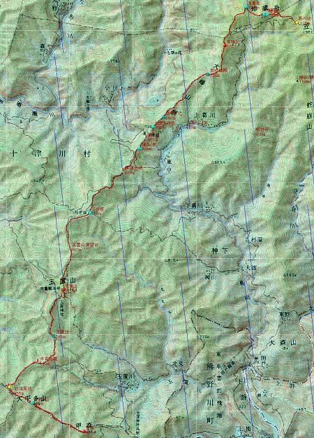 20131012南奥駈地図2日目